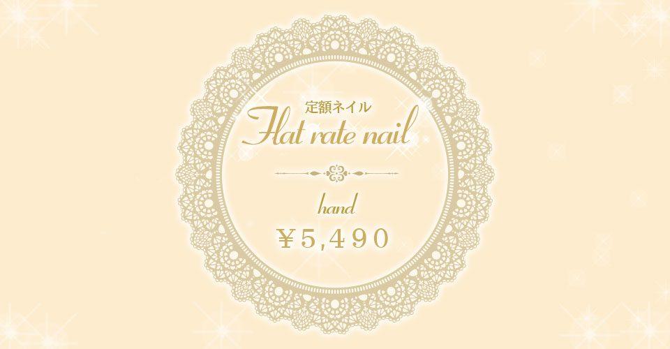 定額ネイルHAND ¥5,490